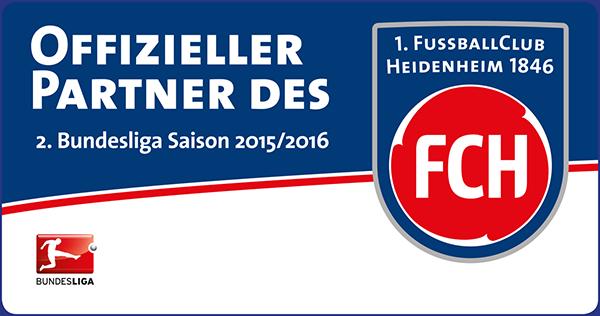 Offizieller Partner des 1. FC Heidenheim